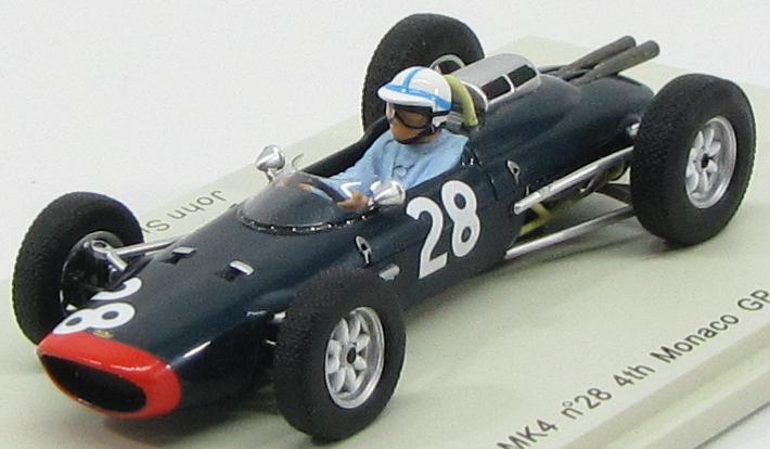Lola Mk4 #28 4th Monaco GP 1962 John Surtees