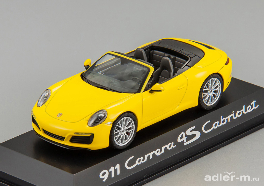 Porsche 911 Carrera 4S Cabriolet Facelift 2015 (yellow)