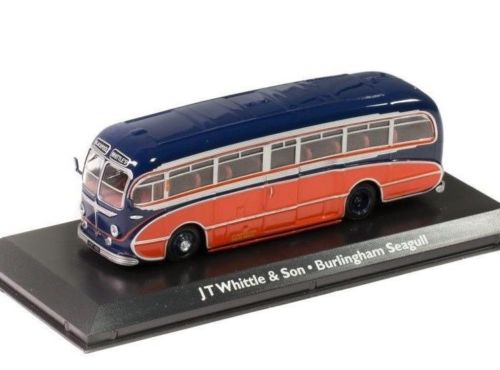 "LEYLAND Tiger Cub Burlingham Seagull Coach ""J.T.Whittle & Sons"" 1951 Blue/Red"