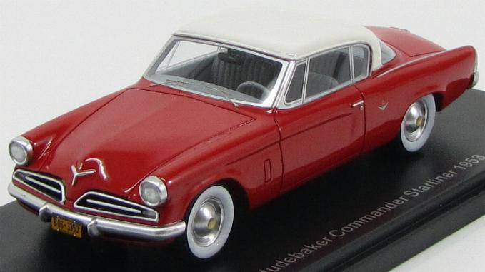 Studebaker Commander Starliner 1953 Red/White