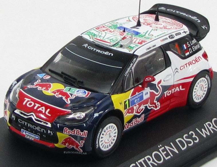 "Citroen DS3 WRC ""Red Bull"" #1 Winner Rally Mexico 2011 S.Loeb, D.Elena"
