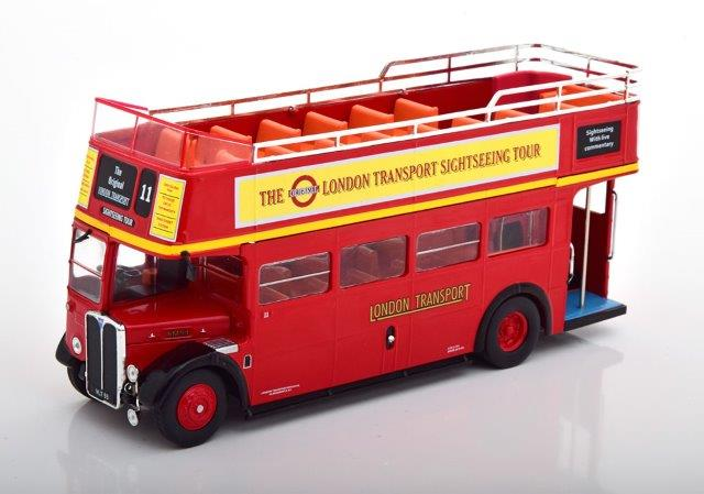 "автобус AEC Regent RT ""London Transport Sightseeing Tour"" Open-Top 1950 Red"