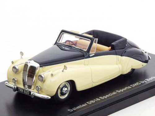 Daimler DB18 Special Sports DHS by Barker 1952 Beige/Dark Blue