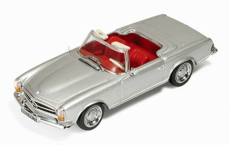 Mercedes-Benz 230SL (W113) Roadster Silver with Red interiors (1963)