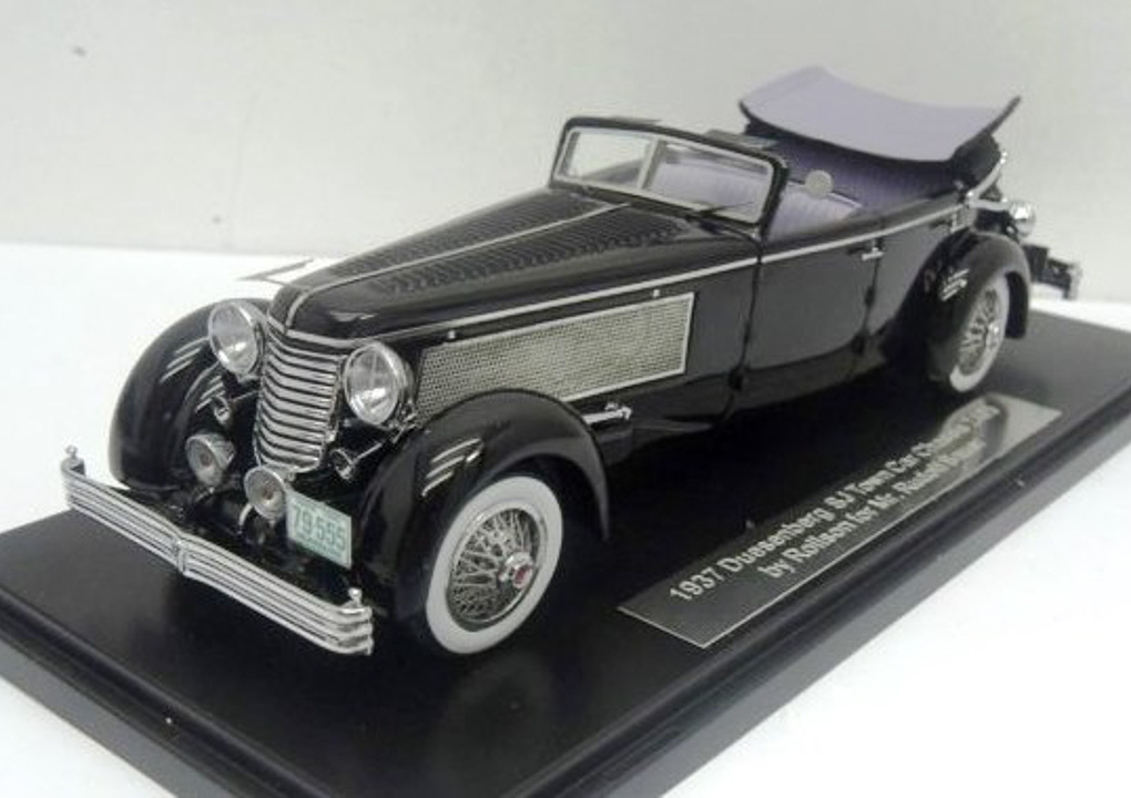 Duesenberg SJ Town Car Chassis 2405 by Rollson for Mr. Rudolf Bauer 1937 Fully Open (Black)