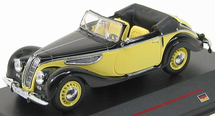 EMW 327 Cabriolet 1955 Black and Light Yellow