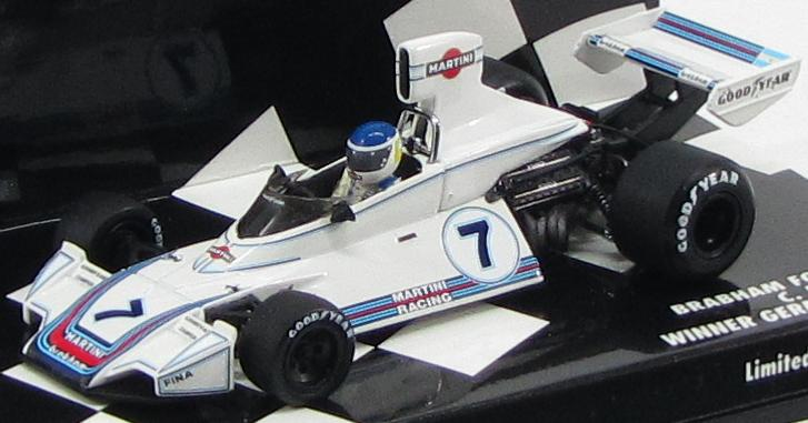 "Brabham Ford BT44B ""Martini Racing"" Carlos Reutemann Winner German GP 1975"