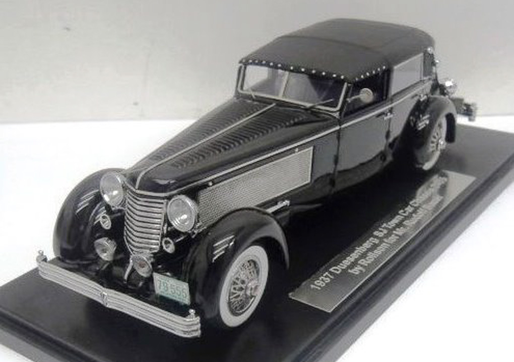 Duesenberg SJ Town Car Chassis 2405 by Rollson for Mr. Rudolf Bauer 1937 Fully Closed (Black)