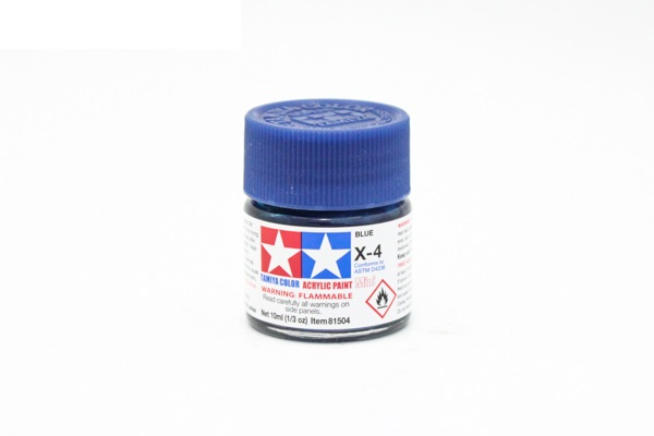 X-4 Blue gloss, acrylic paint mini 10 ml. (Синий глянцевый) Tamiya