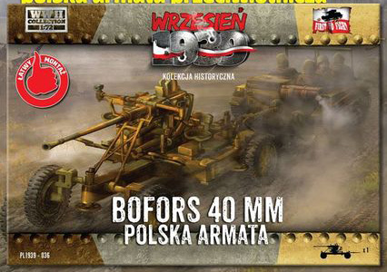 Сборная модель Bofors 40mm Anti-Aircraft Gun
