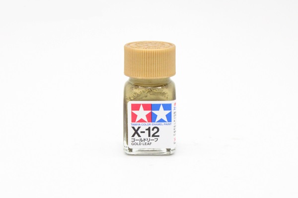 X-12 Gold Leaf metallic, enamel paint 10 ml. (Золото, металлик) Tamiya