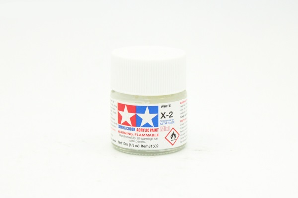 X-2 White gloss, acrylic paint mini 10 ml. (Белый глянцевый) Tamiya