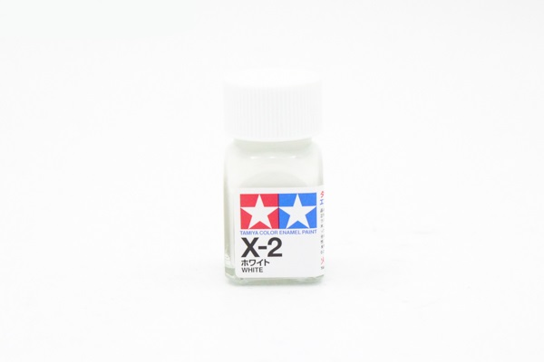 X-2 White gloss, enamel paint 10 ml. (Белый глянцевый) Tamiya