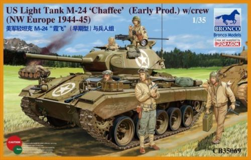 Сборная модель Танк US Light Tank M-24 'Chaffee' (Early prod.) w/crew (NW Europe 1944-45)