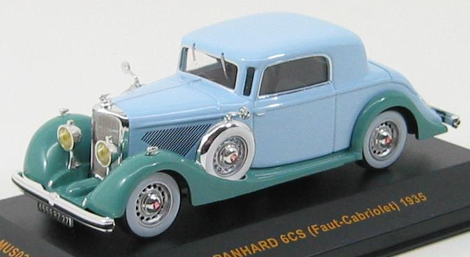 Panhard 6CS 1935 Lightblue / Green