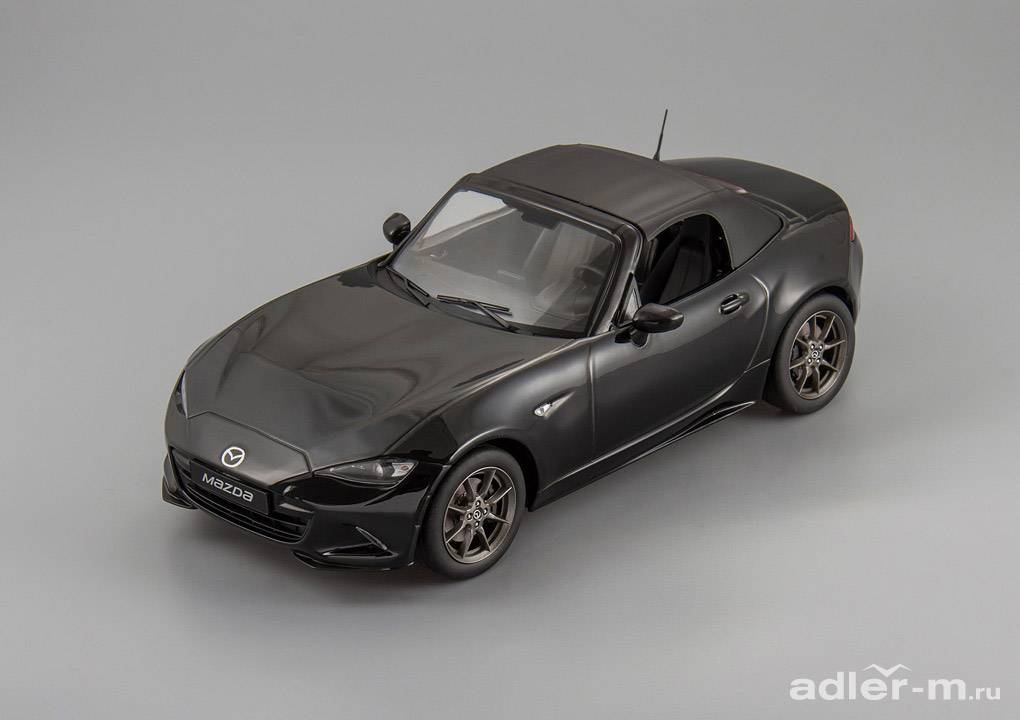 Mazda MX-5 with removable soft top 2015 (no opening doors) (black)