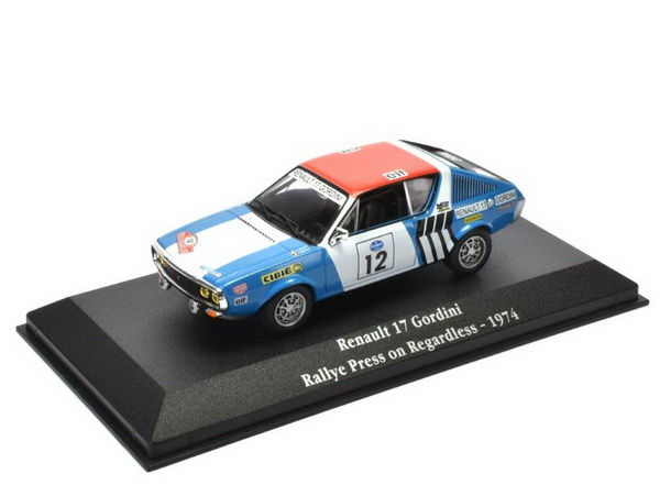 RENAULT 17 Gordini #12 Rally Regardless 1974