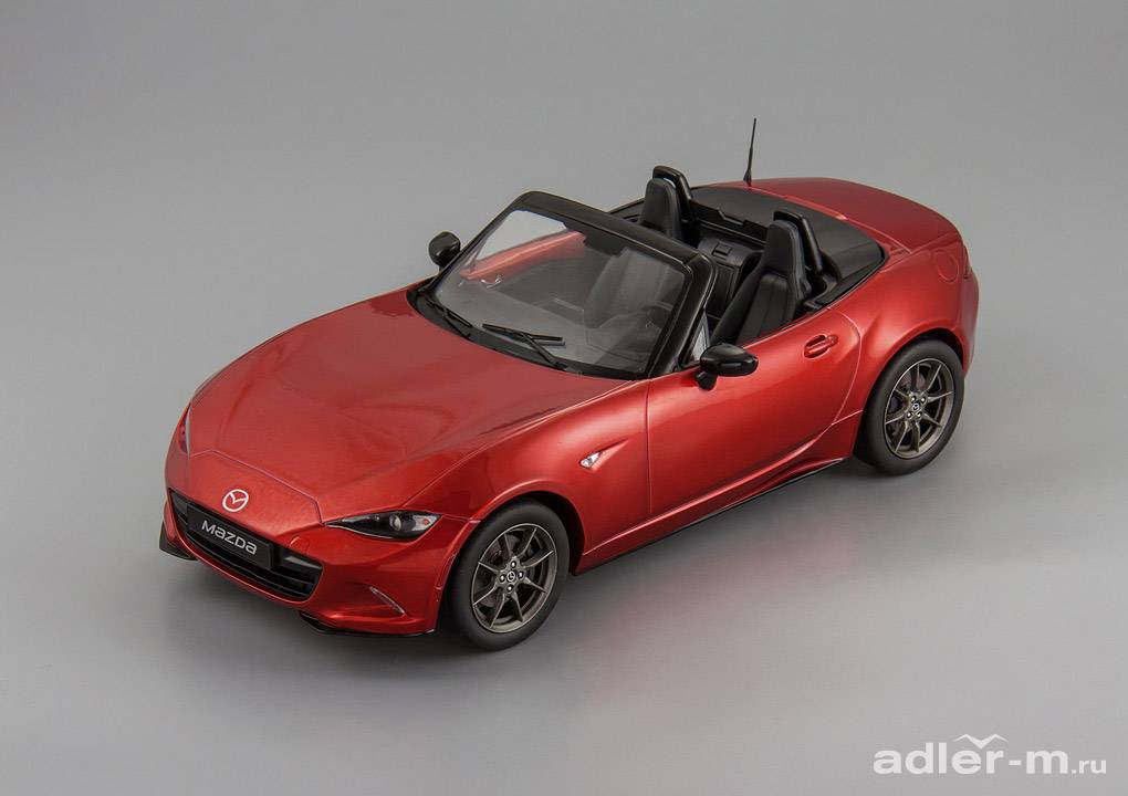 Mazda MX-5 with removable soft top 2015 (no opening doors) (red)