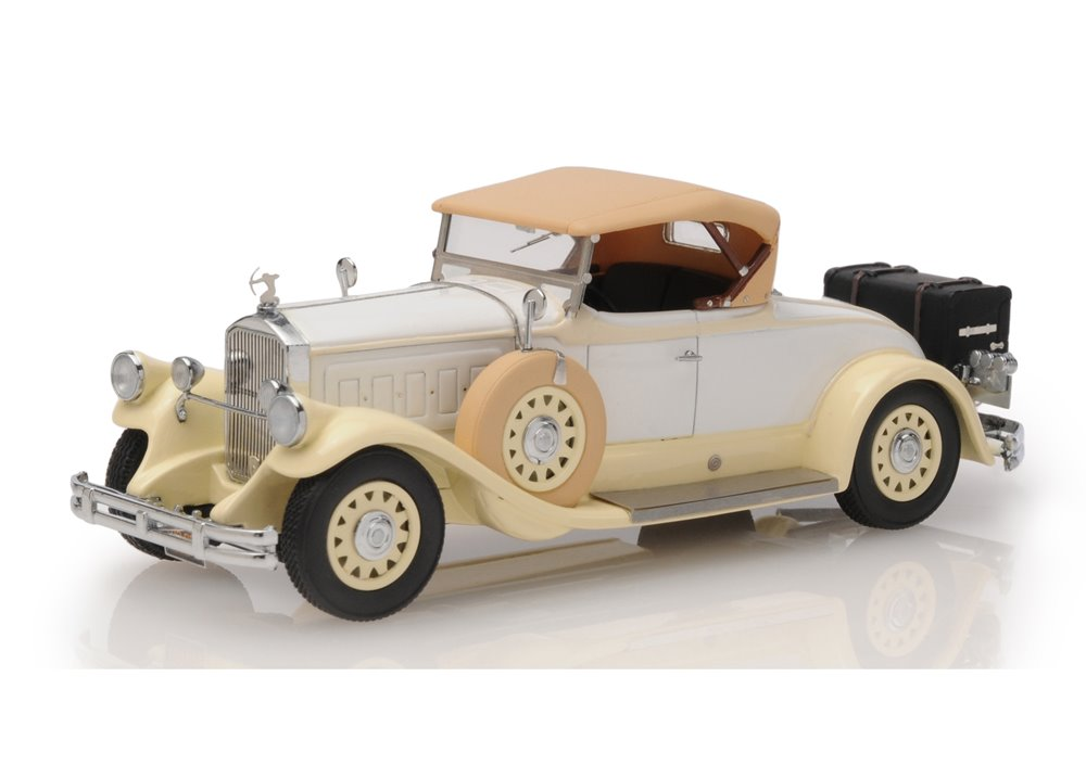 Pierce Arrow Model B Roadster 1930 closed roof (beige)