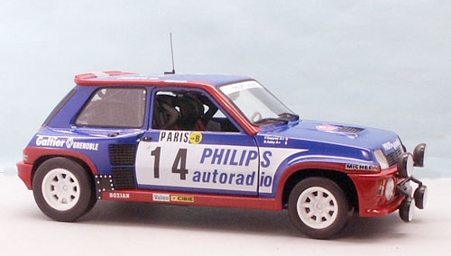 Renault 5 Turbo # 14 Phillips Rallye Monte Carlo 1983