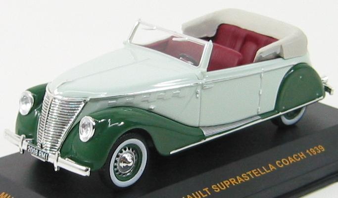 Renault Suprastella Coach 1939 2-Tones Green with Brown Interiors