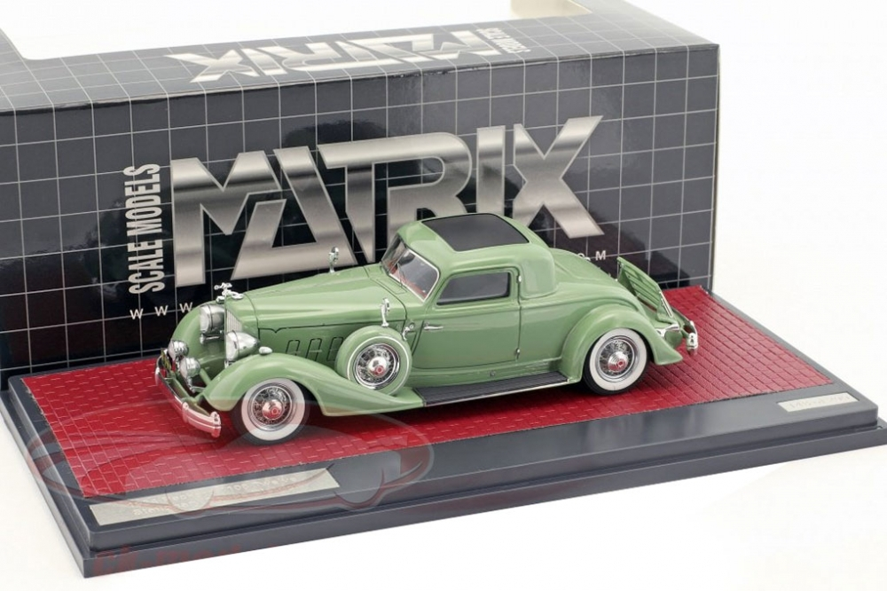 PACKARD 1108 Twelve Stationary Coupe Dietrich (1934), green