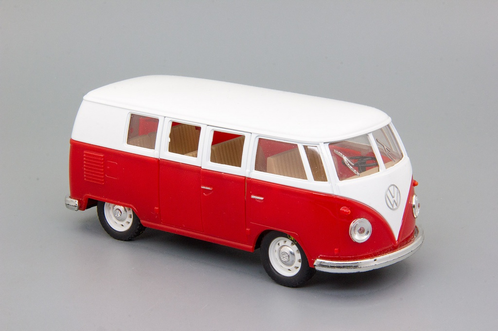 Volkswagen Classical Bus (1962) red/white
