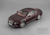 Bentley Continental GT Coupe 2016 (burgundy)