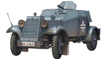 Сборная модель German Adler Kfz. 13 Armored Car