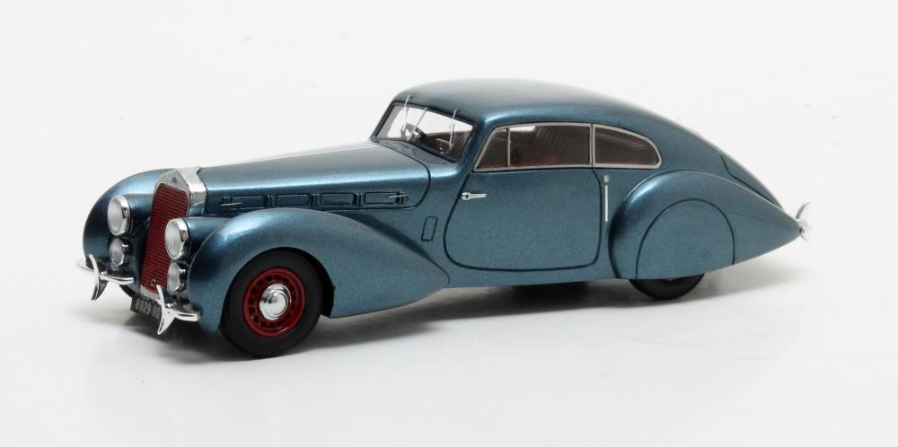 Delage D8-120 S Pourtout Coupe 1938 Metallic Blue
