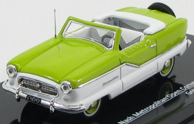 Nash Metropolitan Open Convertible 1959 Green / White