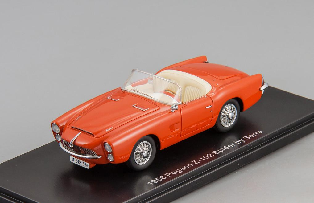 Pegaso Z-102 Spider Serra (Barcelona) 1956 open roof (red)