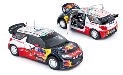 "Citroen DS3 WRC ""Red Bull"" (Loeb, Elena) Winner Rallye du Mexique 2011"