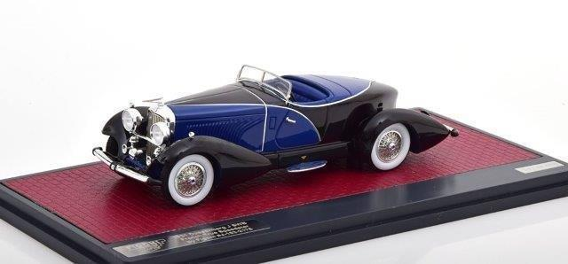 DUESENBERG J SWB French True Speedster by Figoni #J-153-2178 1931 Black/Blue