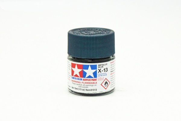 X-13 Metallic Blue, acrylic paint mini 10 ml. (Синий Металлик) Tamiya