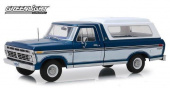 FORD F-100 Bodyside Accent Panel and Deluxe Box Cover  1975 Midnight Blue Poly
