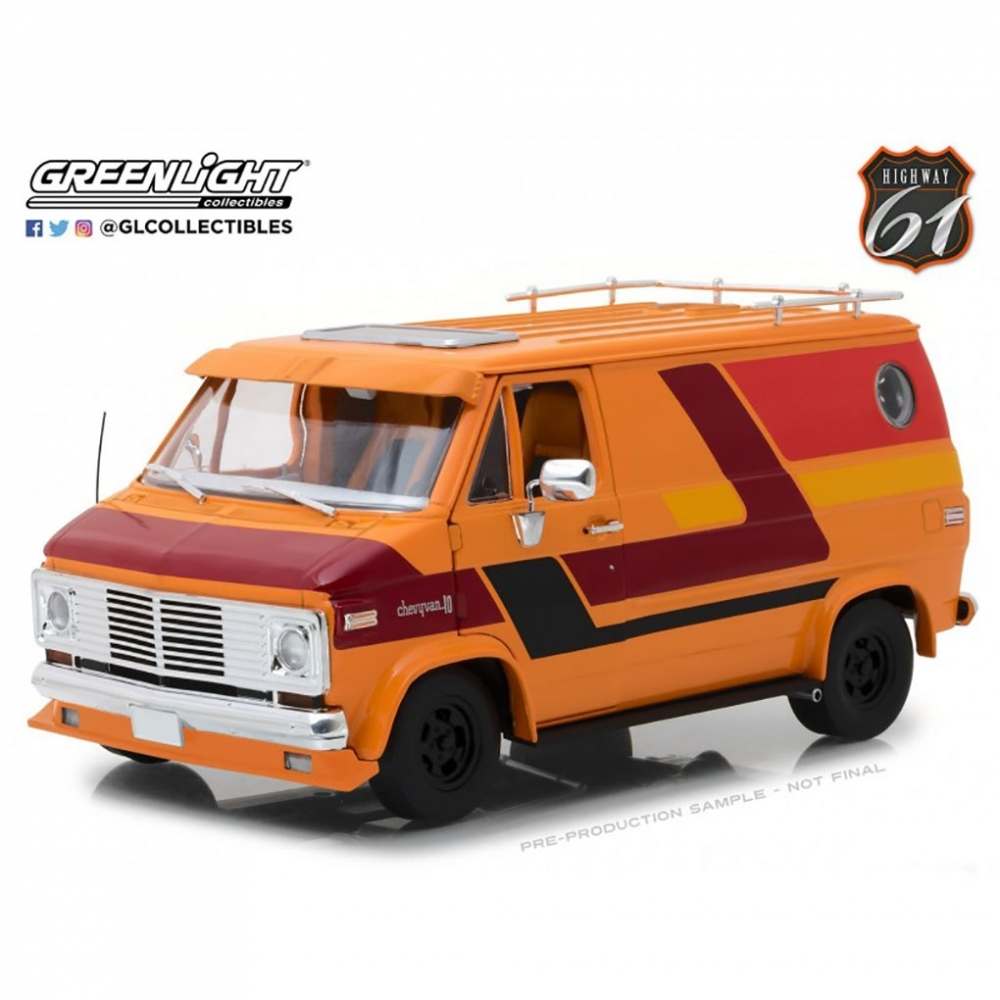 CHEVROLET G-Series Van (фургон) 1976 Orange with Custom Graphics