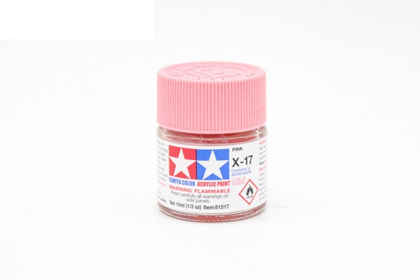 X-17 Pink gloss, acrylic paint mini 10 ml. (Розовый глянцевый) Tamiya