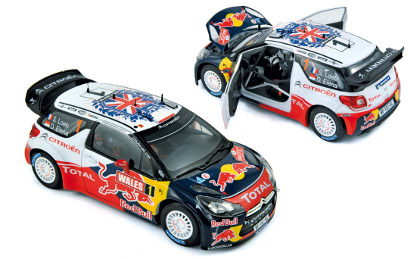 "Citroen DS3 WRC ""Red Bull"" (Loeb, Elena) World Champion Rallye GB 2011"