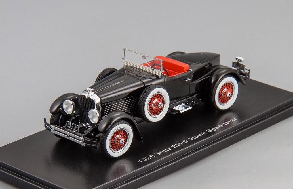 Stutz Blackhawk Boattail roadster 1928 open roof (black)