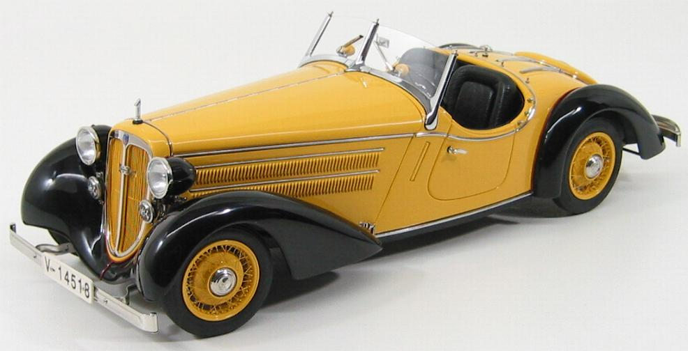 Audi 225 Front Roadster 1935 Black/Yellow