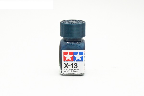 X-13 Metallic Blue, enamel paint 10 ml. (Синий металлик) Tamiya