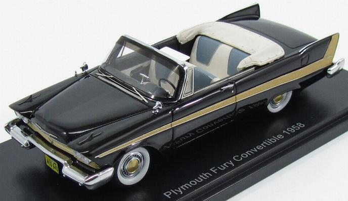 Plymouth Fury Convertible 1958 Black
