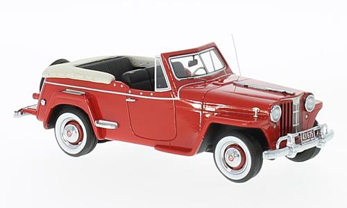 Willys Jeepster Convertible 1948 Red