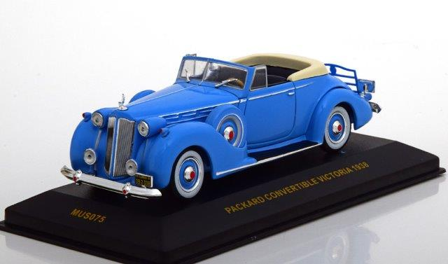 PACKARD Victoria Convertible 1938 Light Blue