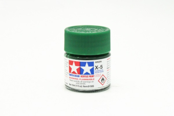 X-5 Green gloss, acrylic paint mini 10 ml. (Зелёный глянцевый) Tamiya