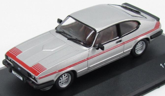 Ford Capri III GT4 1980 Silver/Red
