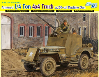 Сборная модель Armored 1/4 Ton 4x4 Truck w/.50-cal Machine Gun