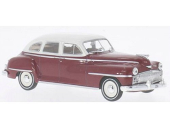 Desoto 6 Suburban 1946 Dark Red/White