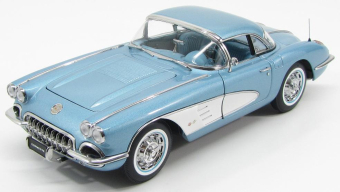 Chevrolet Corvette 1958 Silver Blue